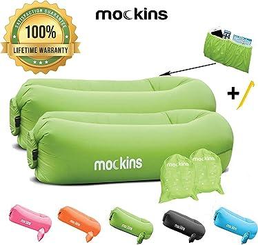 Amazon.com: Mockins - Sofá hinchable con bolsa de viaje ...