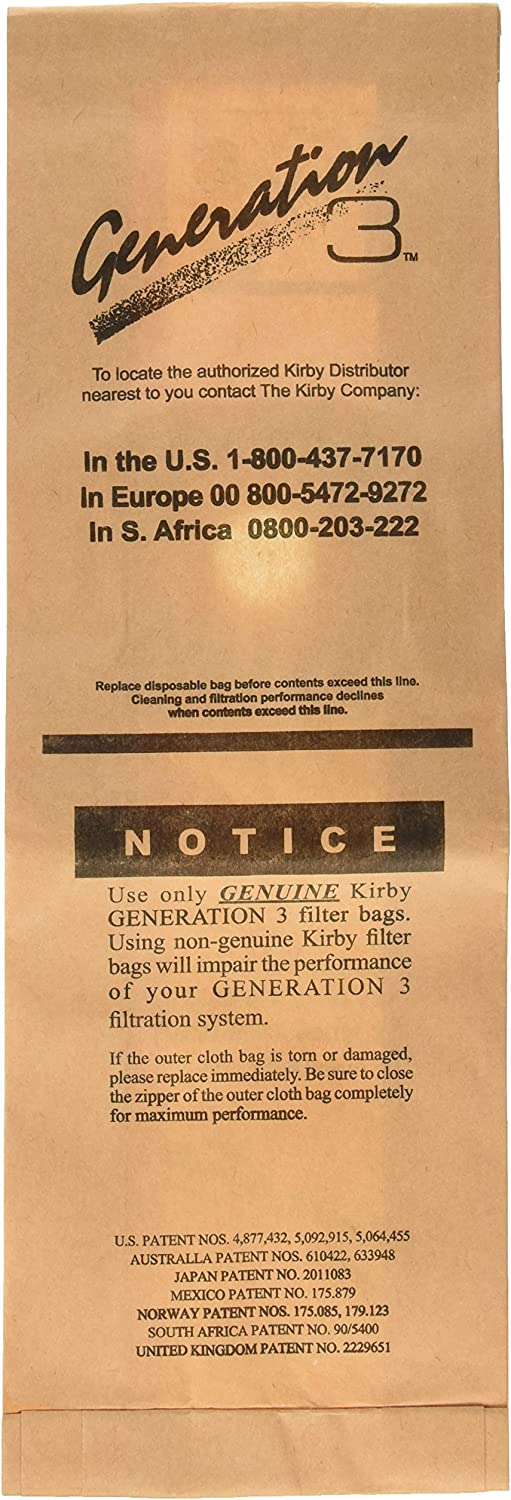 Kirby 197389 Disposable Bag/Gen 3, 9pk, 1