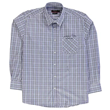 Pierre Cardin Hombre XL Cuadros Camisa Botones Frontal Manga Larga ...