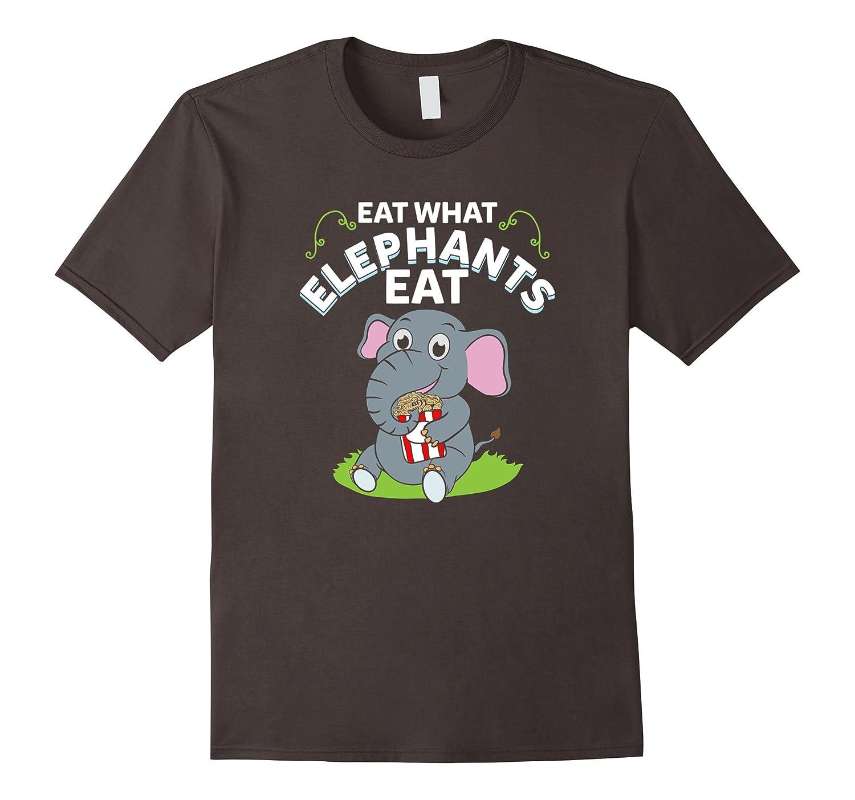Eat What Elephants Eat T-Shirt - Funny Vegan Gift-Art