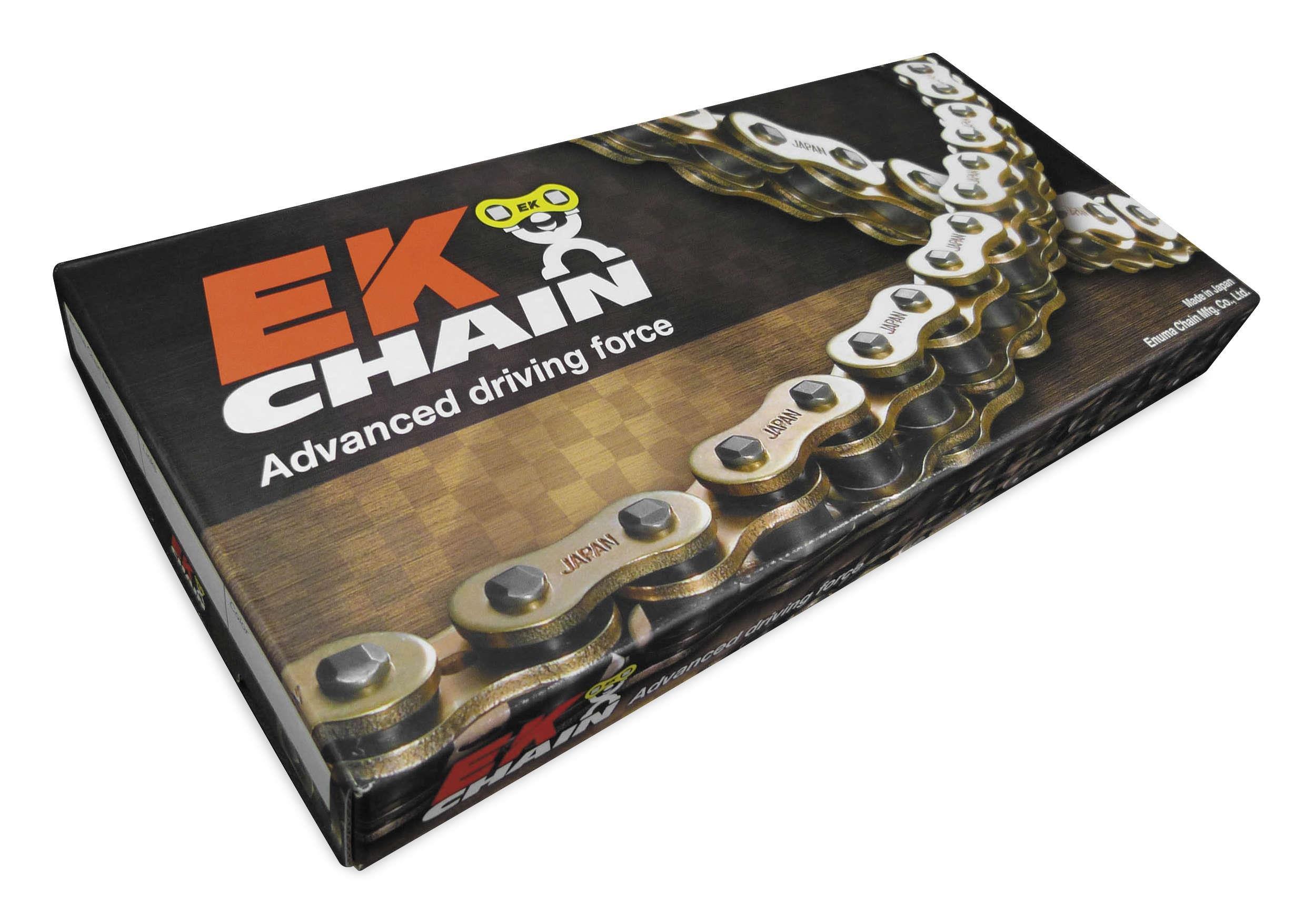 EK Motor Sport 520 MVXZ2 Series X-Ring Chain - 120 Links - Red