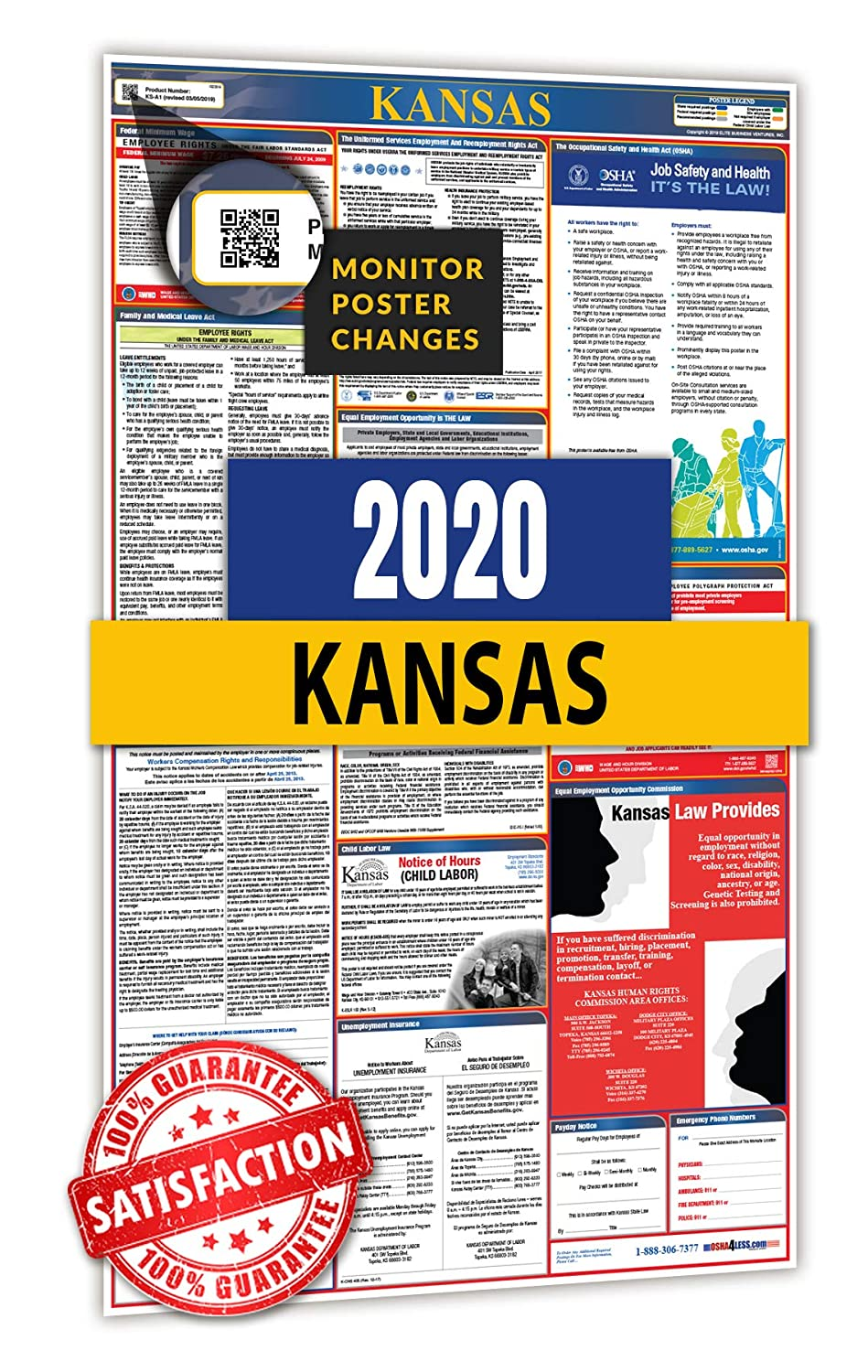 2020 Kansas All in One Labor Law Posters for Workplace Compliance