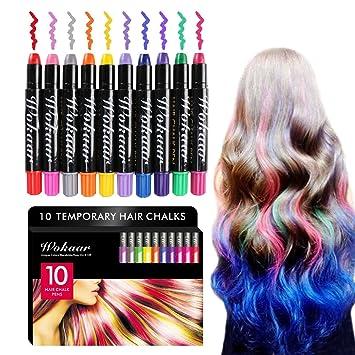 Temporary Hair Chalk 10 Colorful Hair Chalk Pens Washable Non Toxic Hair Chalk Set For