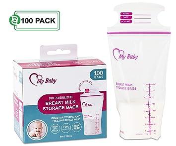 Amazon.com: Bolsas de almacenamiento de leche materna para ...