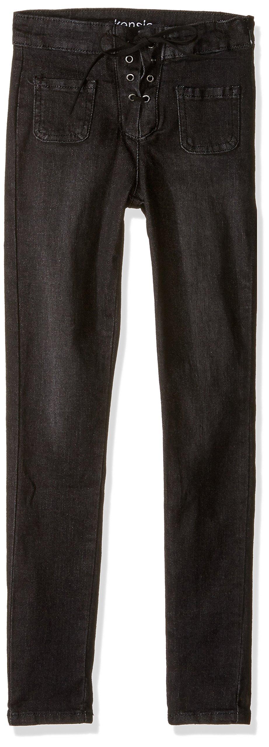 kensie Girls Denim Jean (More Styles Available), 1529 Black Denim, 12