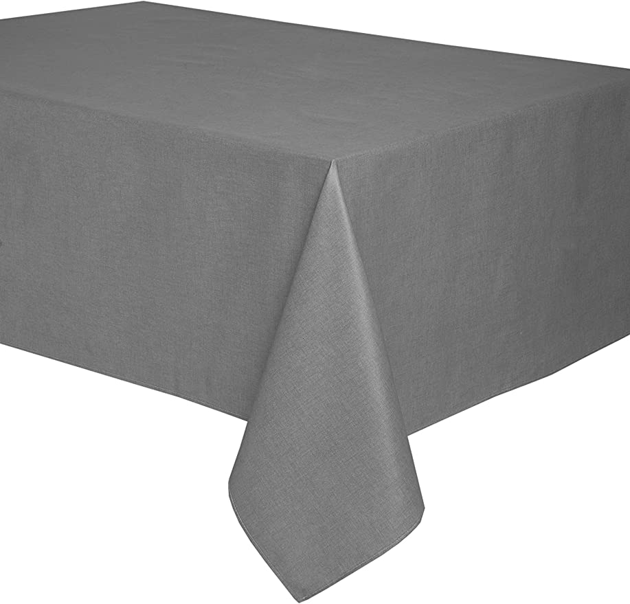 Mantel antimanchas rectangular Olimpia 50% algodón 50% poliéster, resinado y con Teflón de Dupont® - 150x300 - Liso gris: Amazon.es: Hogar