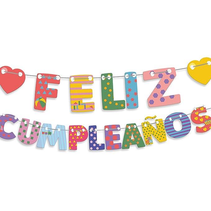 EuroFiestas Guirnalda Letras Feliz cumpleaños Corazones
