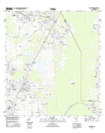 Map Of Davenport Florida.Amazon Com Topographic Map Poster Davenport Fl Tnm Geopdf 7 5x7