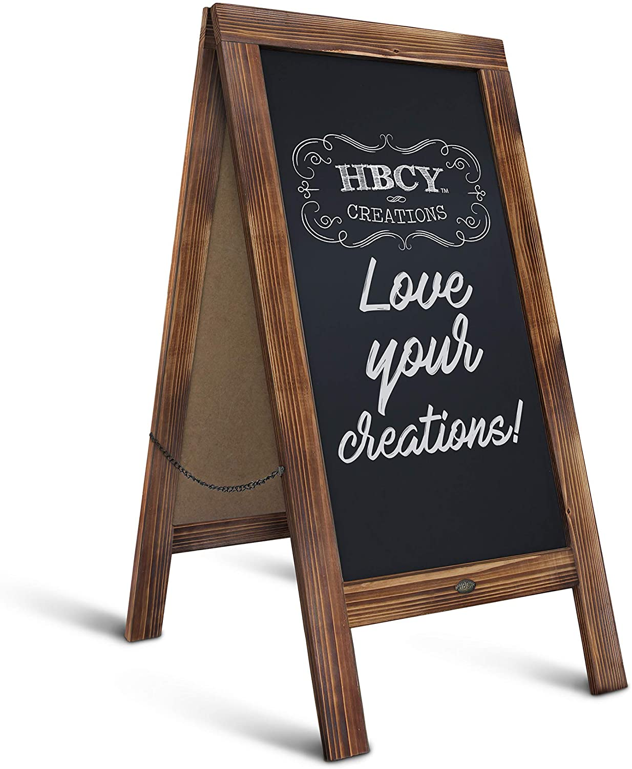 Amazon Com Rustic Magnetic A Frame Chalkboard Sign Extra Large 40 X 20 Free Standing Chalkboard Easel Sturdy Sidewalk Sign Sandwich Board Outdoor A Frame Chalk Board For Weddings