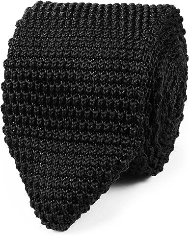Corbata estrecha de punto negra | 5 años de garantía | Regalos ...