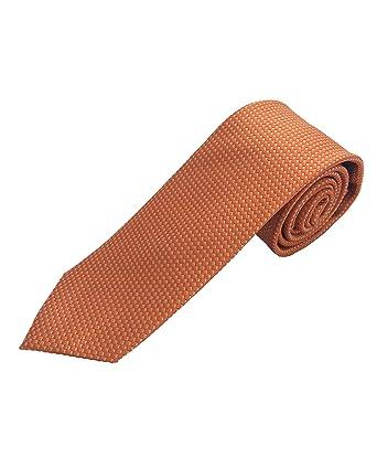 Corbata naranja - corbatas de hombre finas - corbata para bodas ...