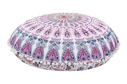 Amazon Large 40 Round Pillow Cover Decorative Mandala Pillow New Round Pillow Cover Tutorial