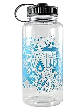 watervault 1 litro botella de agua boca ancha - reutilizable botella deportiva de plástico Tritan sin BPA - estilo clásico excursionistas - 34oz: Amazon.es: ...