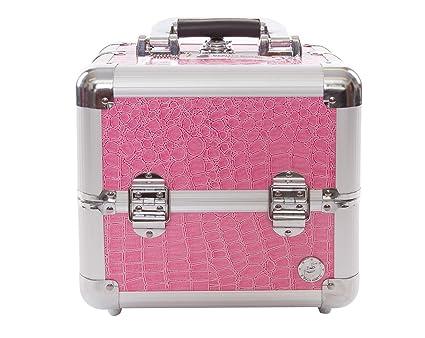 Cajas de belleza Valene rosa cocodrilo y maquillaje belleza funda