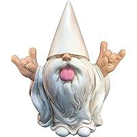 """Gnomo Rockero """"George"""". Este Gnomo animará tu Jardín de Hadas y Jardín de Gnomos de GlitZGlam. 25.4cm de alto. Estatuilla para Jardín de Gnomos"""