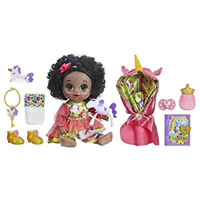 Baby Alive Once Upon a Baby: Forest Tales Forest Mia (Black Curly Hair): Toys & Games