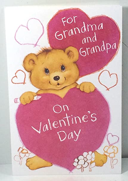 Valentine Card Grandparents From Grandkids For Grandma And Grandpa On Valentine Day By American