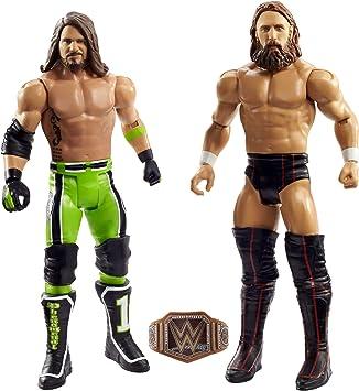 WWE- Pack de Dos Luchadores, Figuras Daniel Bryan vs AJ Styles (Mattel GLB27): Amazon.es: Juguetes y juegos