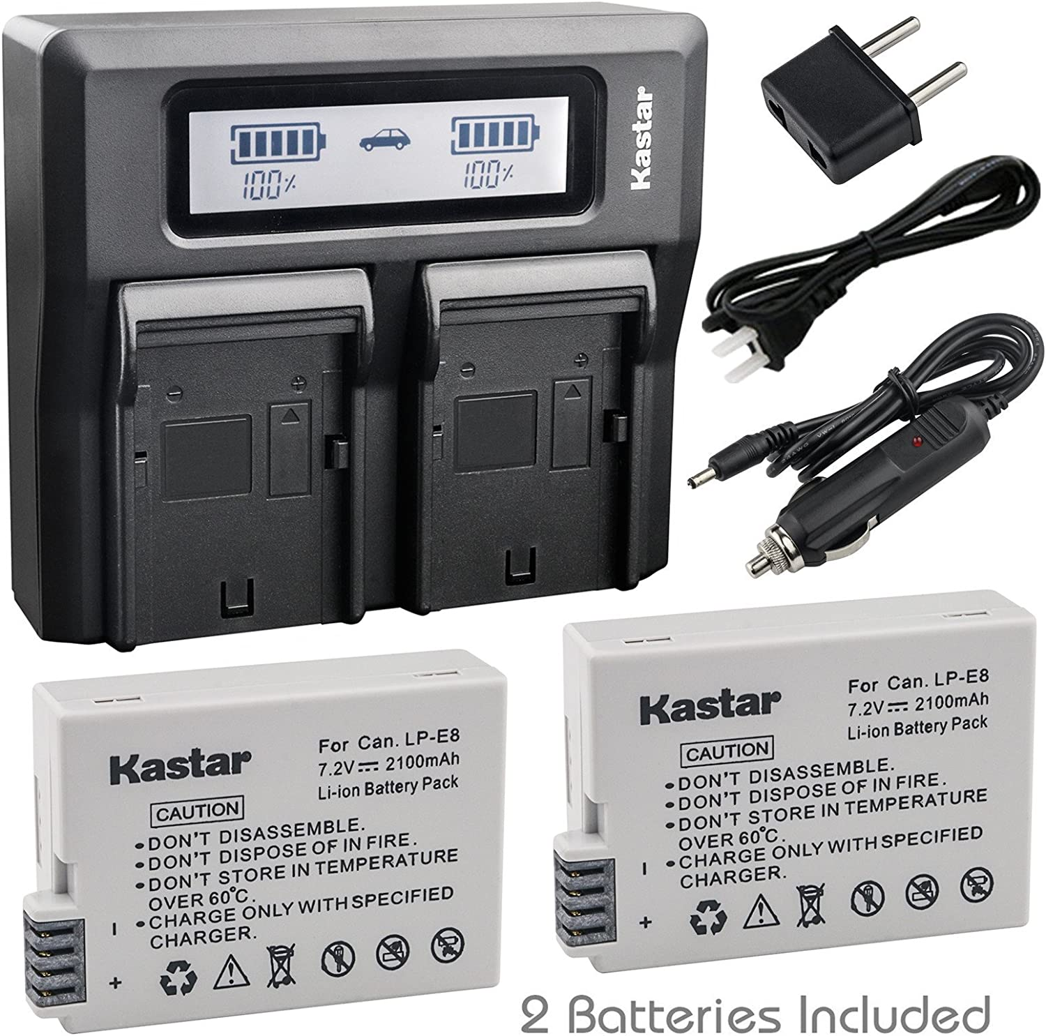 : Kastar Fast Dual LCD Charger + 2X Battery for