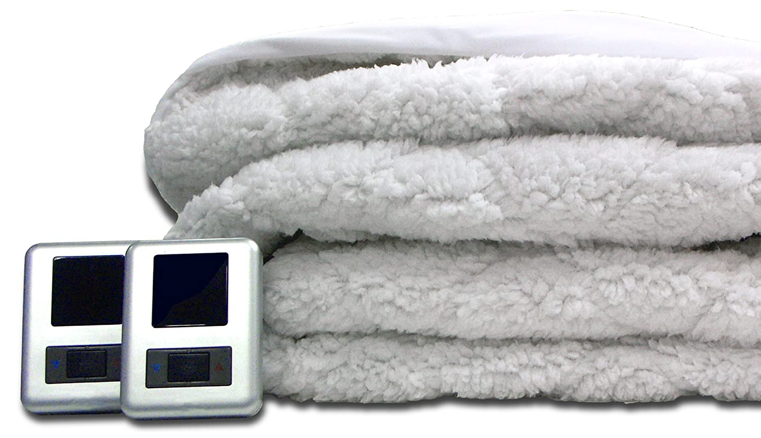 Amazon.com: Biddeford 5302-9051128-100 Sherpa Quilted Skirt Electric Heated  Mattress Pad, Queen, White: Home & Kitchen