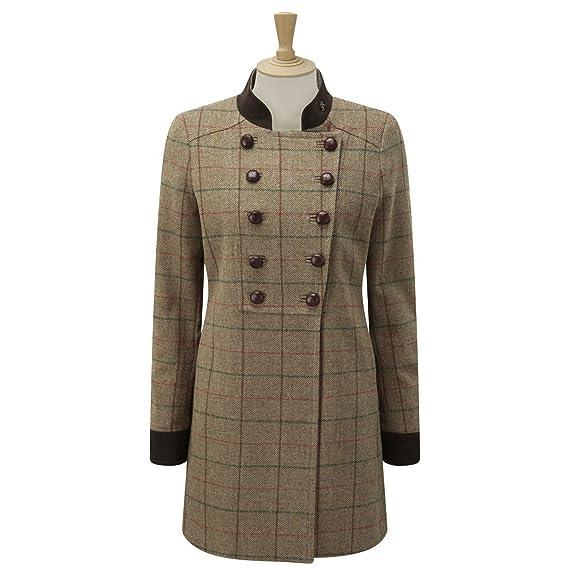 b60fa820570d9 Caldene - Chaqueta de tweed estilo militar modelo Rosedene para mujer (44  EU Verde