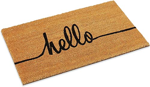 Hello Greeting Coco Front Door mat 18 x 47-inch