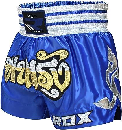 RDX Pro Muay Thai Fight Shorts MMA Grappling Kick Boxing Trunks Martial Arts