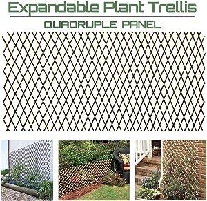 GLANT Lattice Fence Willow Expandable Plant Climbing Lattices Trellis Fence,Open Screen Willow Fencing,Willow Expandable Trellis Fence (4)