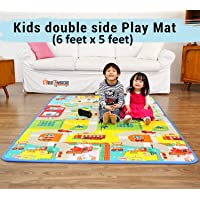 See Inside    Double Sided Water Proof Baby Mat Carpet for Kids (Assorted Colors and Design)