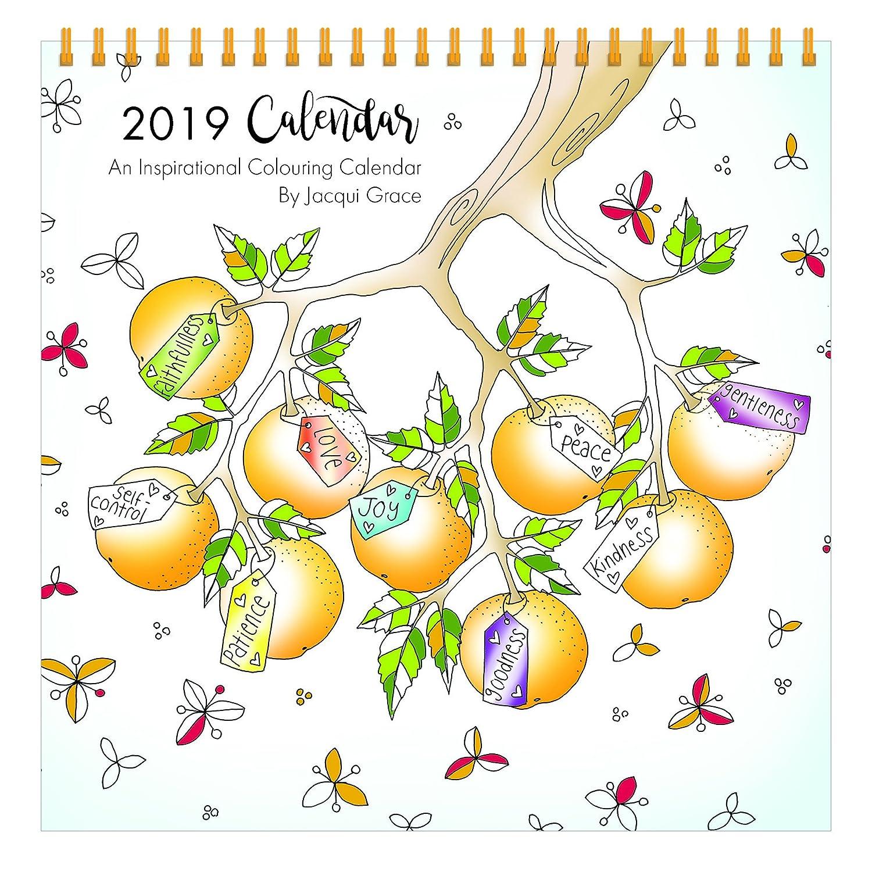 Calendario de colorear inspirador cristiano 2019 con versos biblia a ...