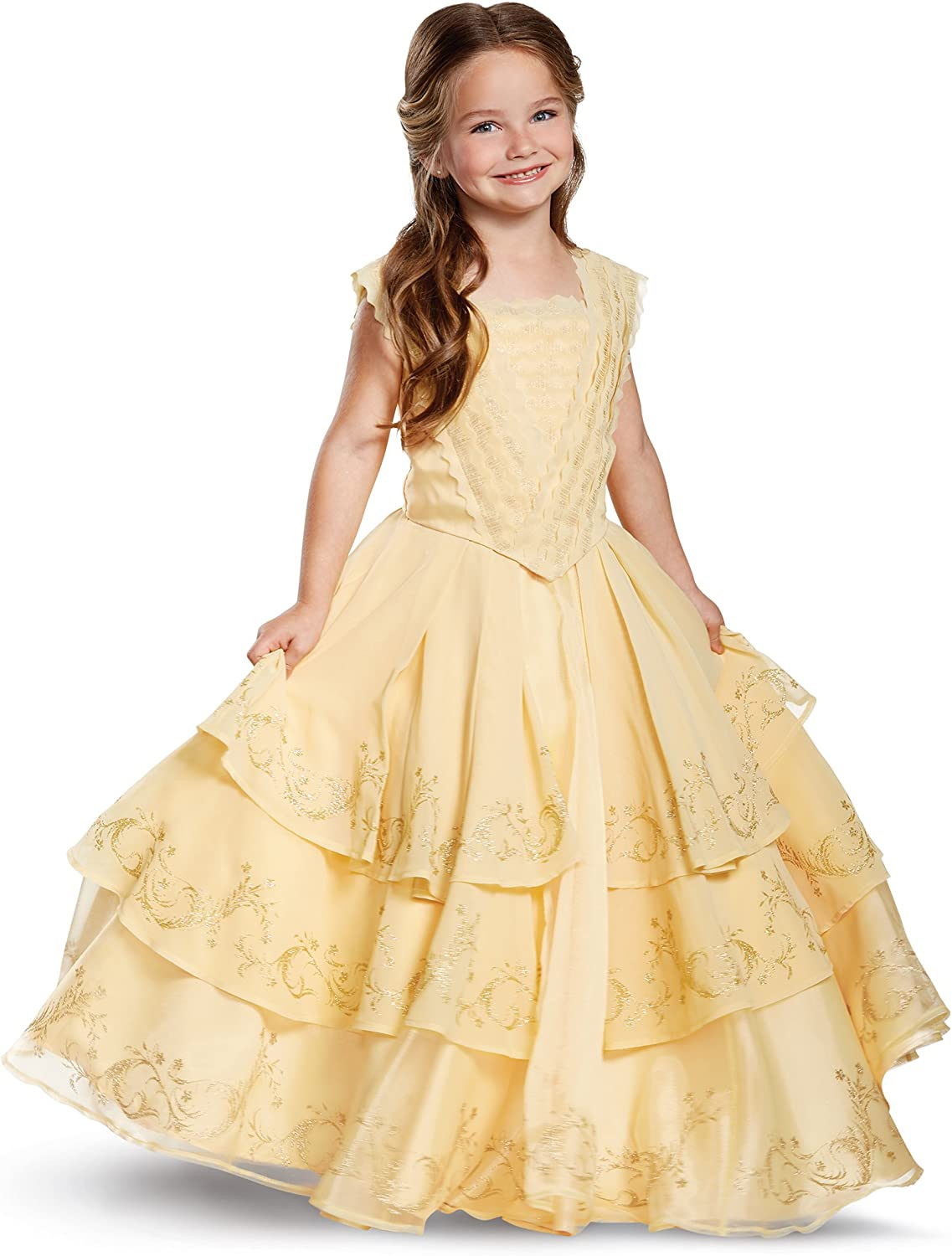 Amazon Com Spirit Halloween Kids Belle Costume The Signature Collection Beauty And The Beast Yellow Clothing