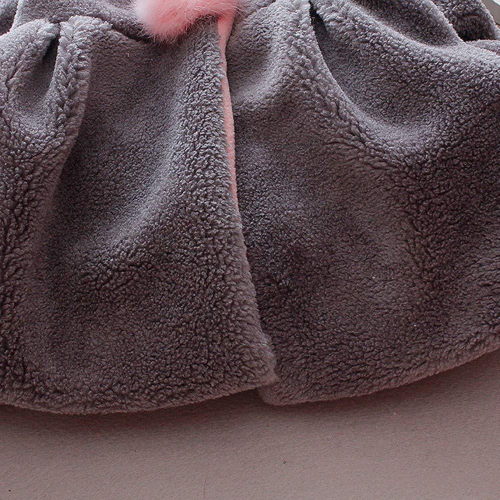Winter Children Kids Girls Venonat Rabbit Ears Hooded Keep Warm Coat Jacket Clothes TOOPOOT Kids Baby Coat