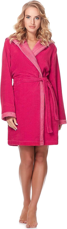 Merry Style Bata Corta con Capucha Vestidos de Casa Ropa Mujer MSLL1002