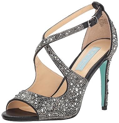 d2512d07ac946 Betsey Johnson Women s SB-SAGE Heeled Sandal Black 6 ...