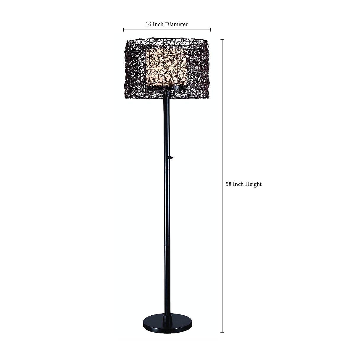 Kenroy Home 32220BRZ Tanglewood Outdoor Floor Lamp, Bronze Finish