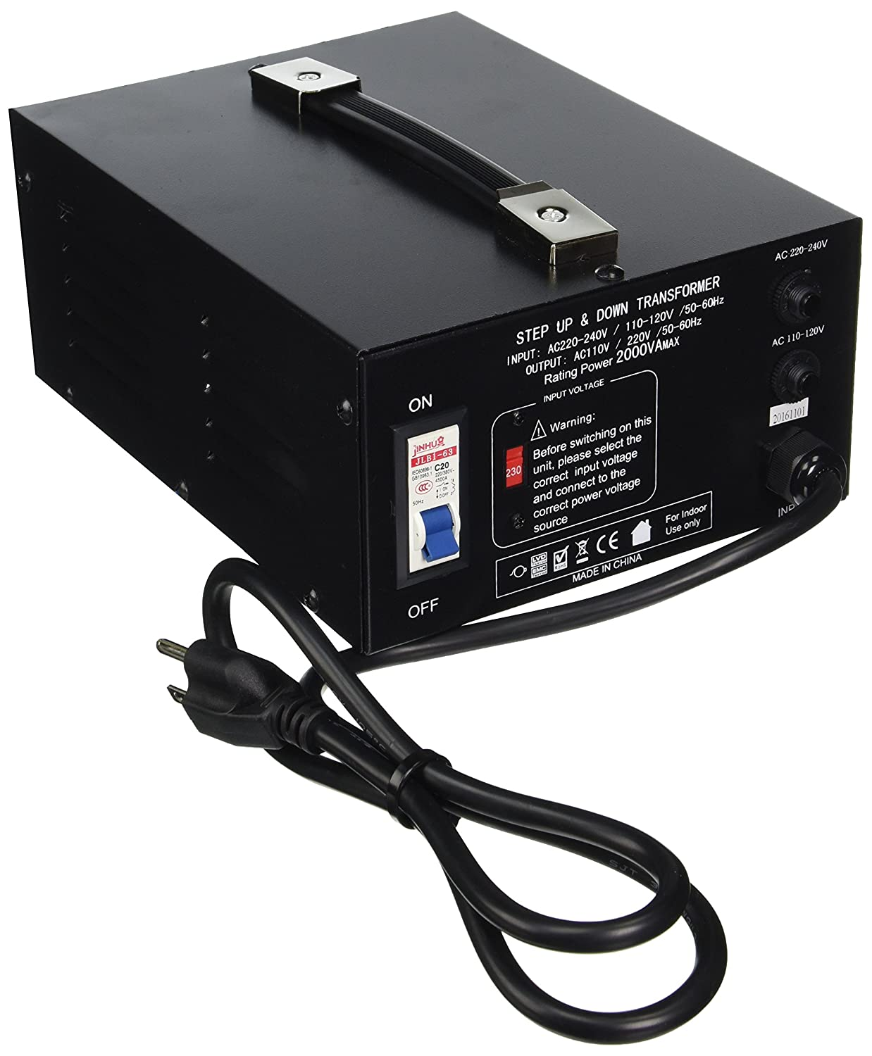 Elc T 5000 Watt Voltage Converter Transformer To Split This Into A 120v And 220v Circuit Step Up Down 110v Breaker Protection Home Audio Theater