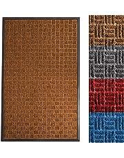 casa pura Front Door Mat | Embossed Door Mats Indoor & Outdoor | All Weather Waterhog Entrance Mat | Ocean Series