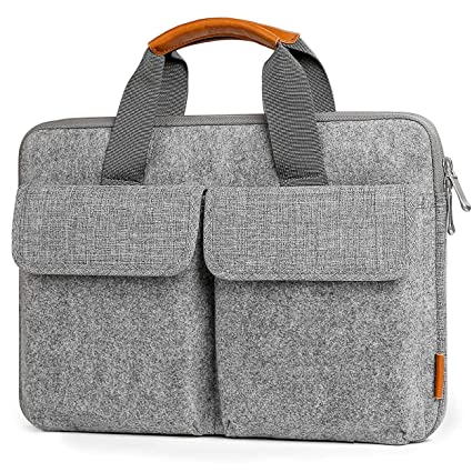 30c3c0c4e6e3 Inateck 15-15.6 Inch Laptop Case Sleeve Vintage Bag Felt Briefcase  Compatible DELL/HP/ASUS/ACER/Lenovo Laptops - Light Gray