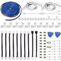 Led Strip Light Connectors 10mm 4Pin,Inclusief 12 Solderless Led Light Connectors,Biedt de meeste onderdelen voor DIY…