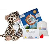 """Make Your Own Stuffed Animal Charlie the Cheetah 16""""- No Sew - Kit With Cute Backpack!"""