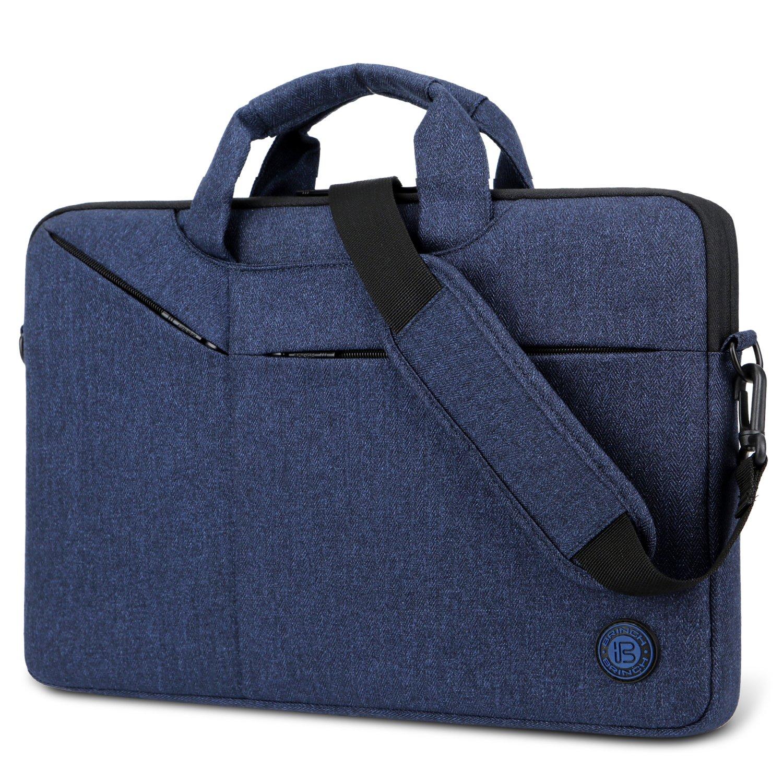Laptop Bag,BRINCH Slim Water Resistant Laptop Messenger Bag Portable Laptop Sleeve Case Shoulder Bag Briefcase Handbag with Strap for 13-14 Inch Laptop/Notebook Computer Men/Women,Blue