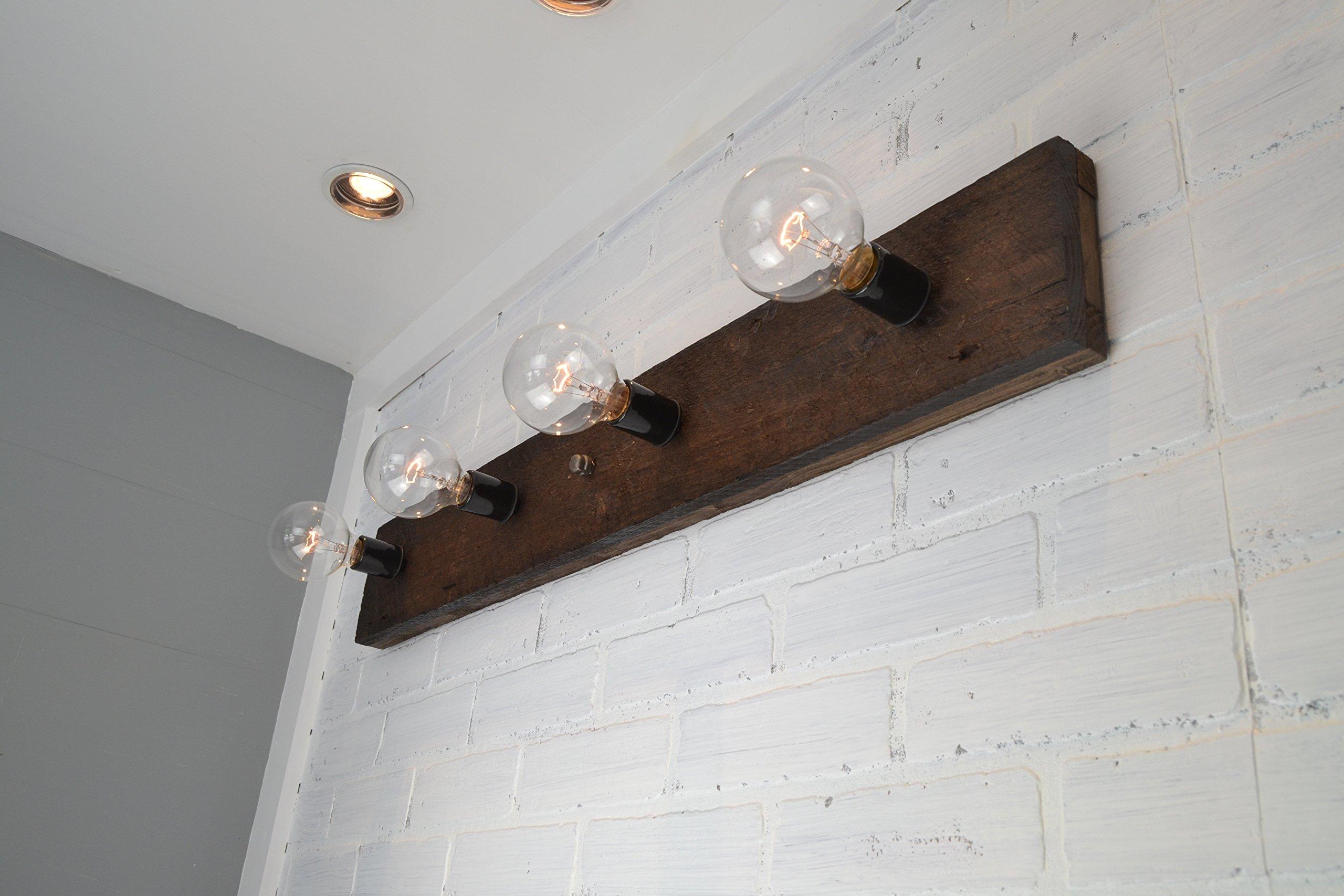 Wood Vanity Light by West Ninth Vintage (Image #2)