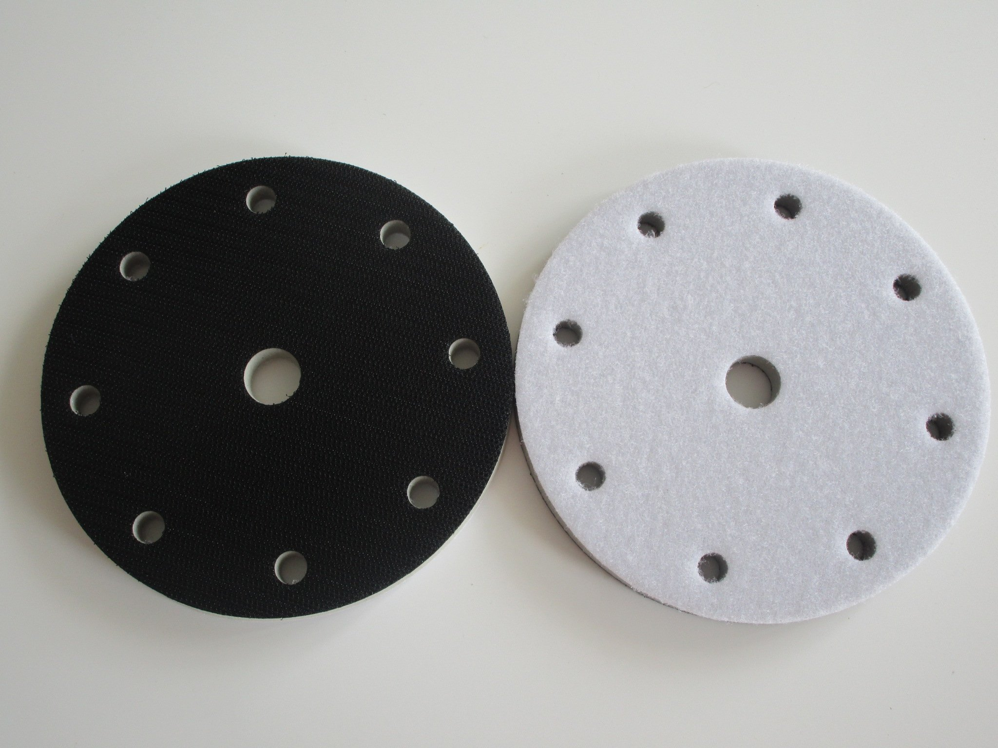 High Density Interface Pad 6'' 9 Holes 150mm Damping & Protection Sanding Pad (Pack of 5)