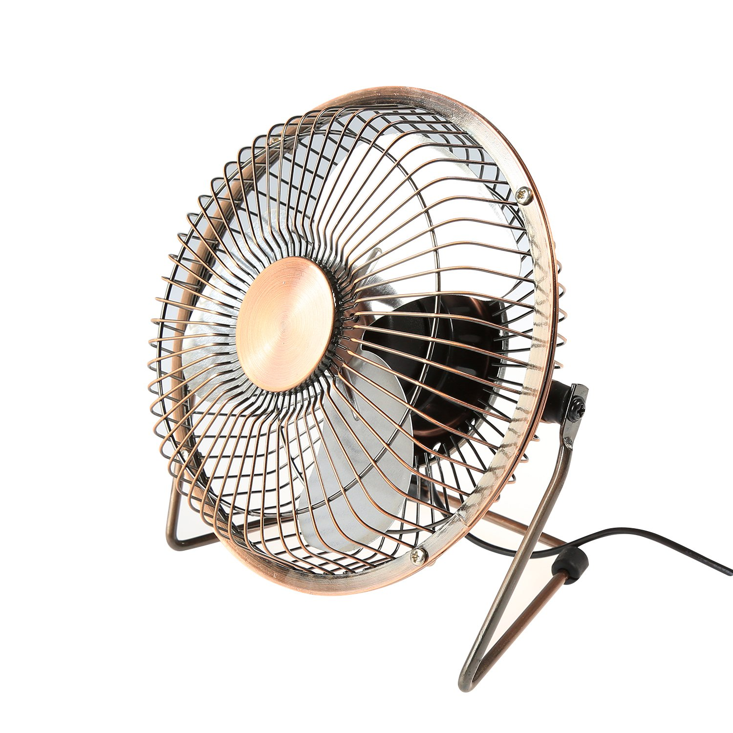 6 Inch LEADSTAR USB Mini Fan 6 Inches Portable Desk Table Cooling Fan USB Powered by PC MacBook Laptop Bronze