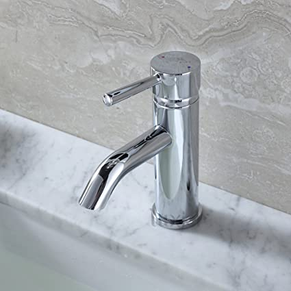 Luxier BSH03-SC Contemporary Bathroom Vanity Sink Lavatory Faucet ...