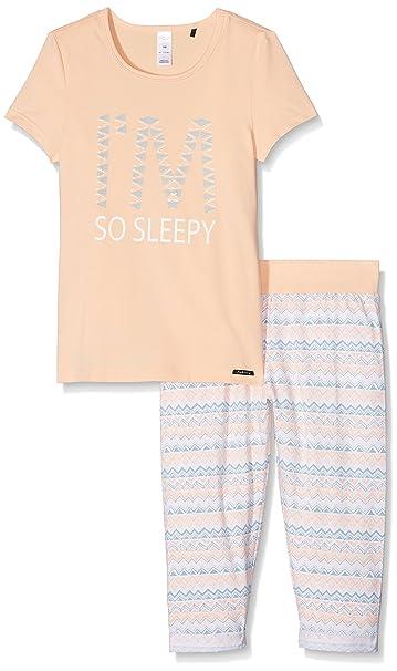 Skiny Ethnic Paradise Pyjama 3/4, Conjuntos de Pijama para Niñas, (Peach