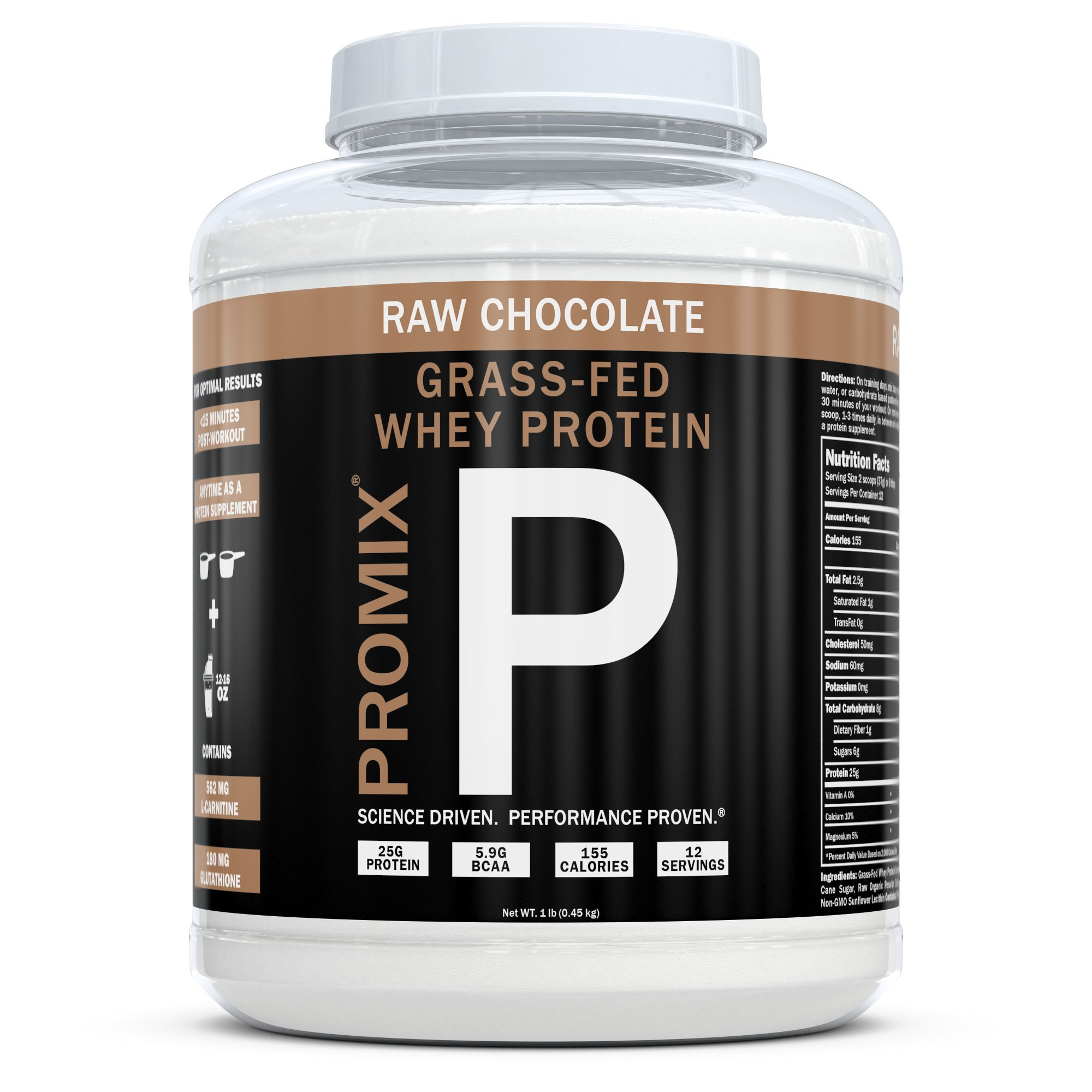 Amazon.com: ProMix Nutrition Container of Chocolate Grass-Fed Whey Protein, 1 Pound: Health & Personal Care