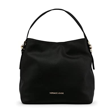 ed9cad20272c Versace Jeans Becky Black Pebbled Hobo Bag Black Leather  Amazon.co.uk   Shoes   Bags