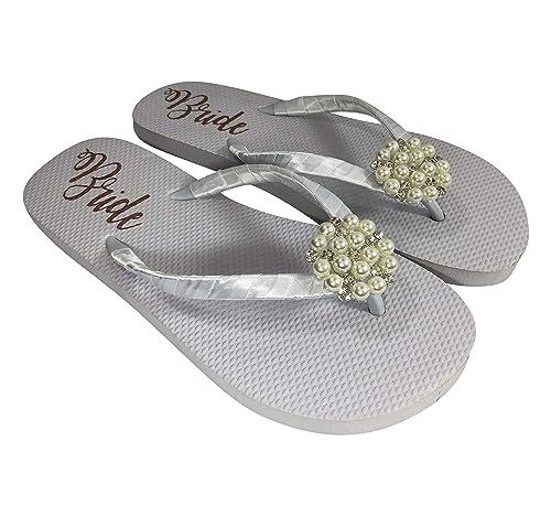 Pearl \u0026 Rhinestone Flat White Bride