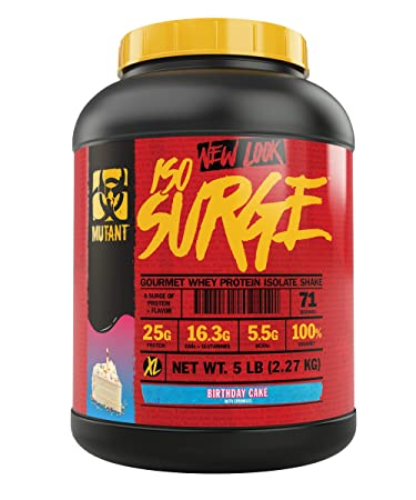 Mutant ISO Surge Whey Protein Powder Acts Fast To Help Recover Build Muscle Bulk